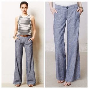 Pilcro and the Letterpress Gray Flare pants 8T